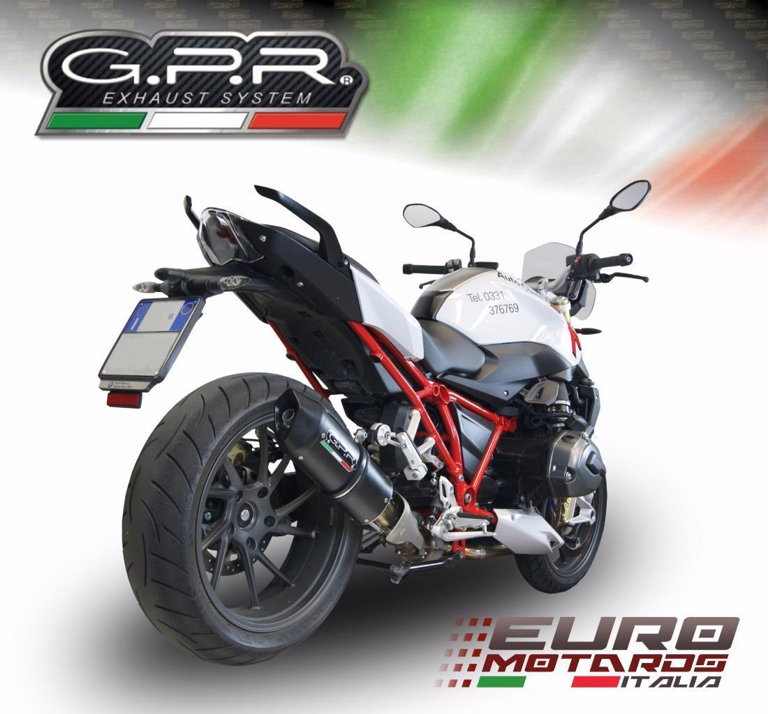 bmw r1200r lc 2015 2018 gpr exhaust furore nero slipon silencer road legal new ebay. Black Bedroom Furniture Sets. Home Design Ideas