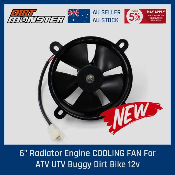 Radiator Thermo Electric Cooling Fan 12V Pit Trial  Quad Dirt Bike ATV Buggy