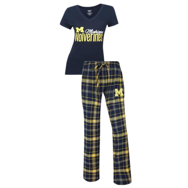 Support your favorite team in this NCAA Halftime women s 2-piece lounge  sleep set with a short sleeve tee shirt and flannel pants. NCAA Licensed  Product. 04369fc77