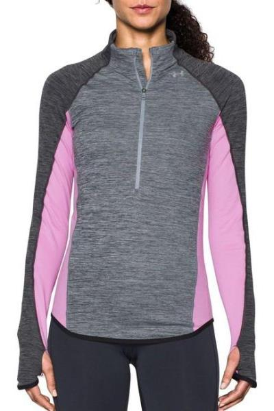 db377a9310 Details about Under Armour Coldgear 1/2 Half Zip Fleece-Lined Pullover Top  Pink S NWT! $59.99