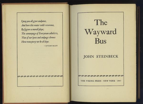 Details about THE WAYWARD BUS by JOHN STEINBECK  VIKING PRESS 1947