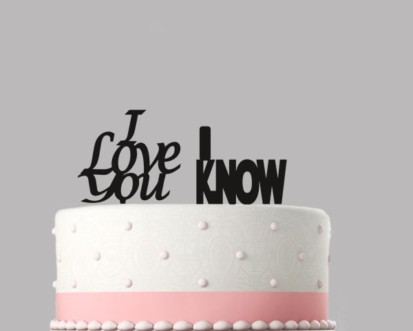 Details About I Love You I Know Star Wars Wedding Cake Topper Decoration Acrylic 246