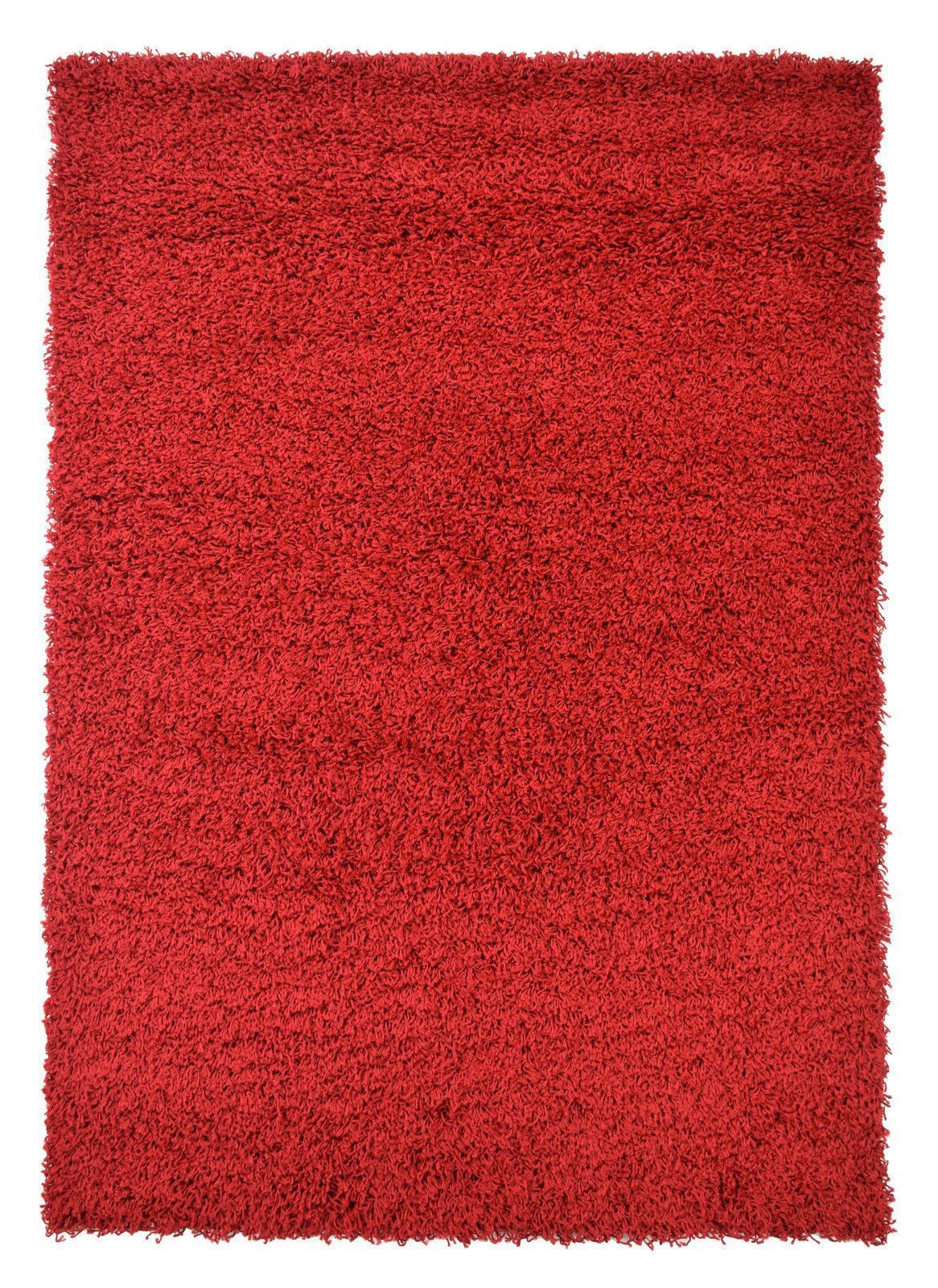New Red Small Extra Large Shaggy Modern Traditional Soft