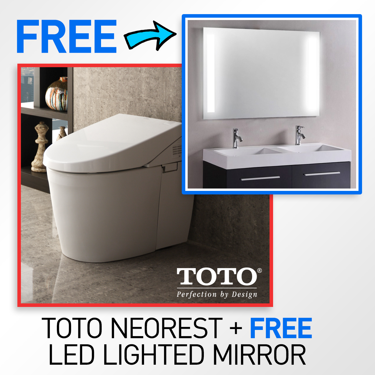 TOTO MS982CUMG#01 Neorest 550H Toilet & FREE 53 x 42\