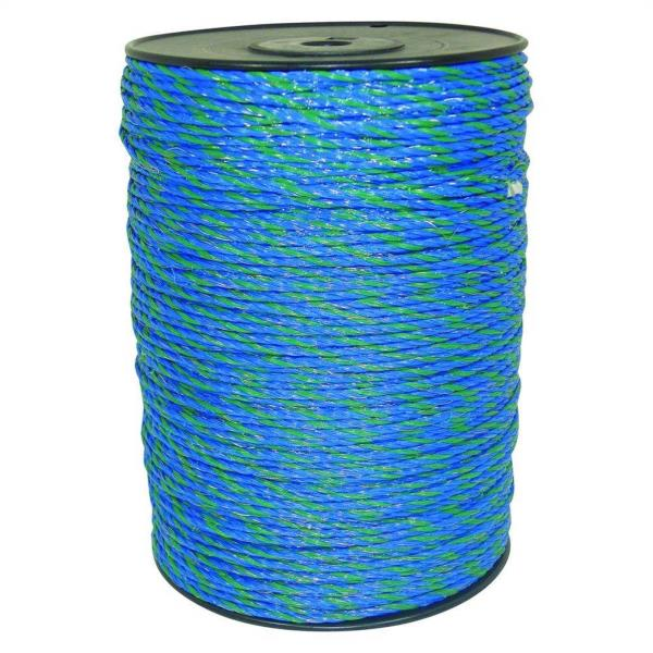 1640 ft. Blue/Green Polywire Electric Fence Livestock Horse Security ...