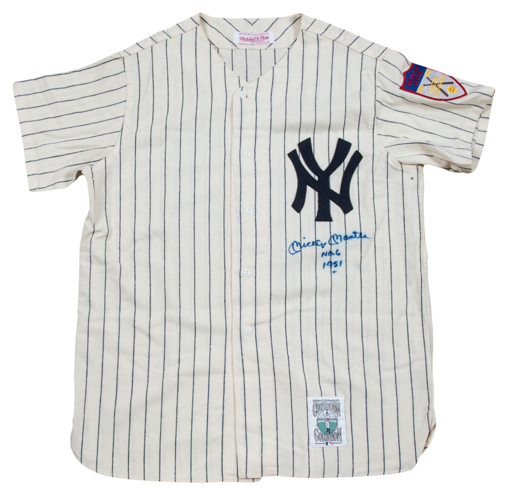 cheaper b5383 8d632 Details about Incredible Mickey Mantle No. 6 Signed Inscribed NY Yankees  Rookie Jersey PSA DNA