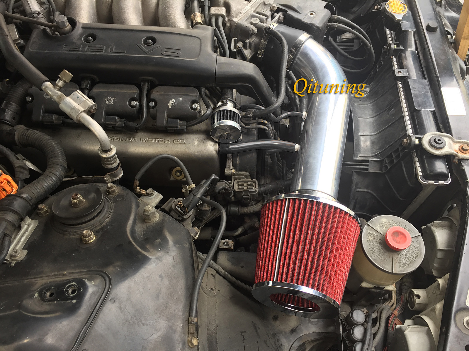 Black Red For 1991-1995 Acura Legend 3.2L V6 Base L LS Air Intake w/o TCS