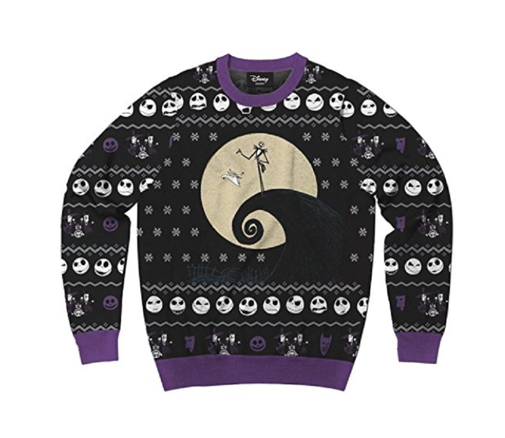 Disney Nightmare Before Christmas Jack Faces Ugly Christmas Sweater ...