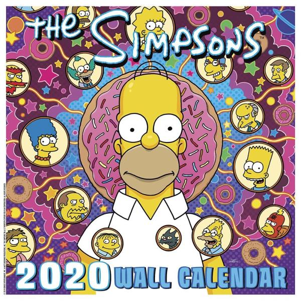 Calendario Sci 2020.The Simpsons Animated Tv Series 16 Month 2020 Wall Calendar