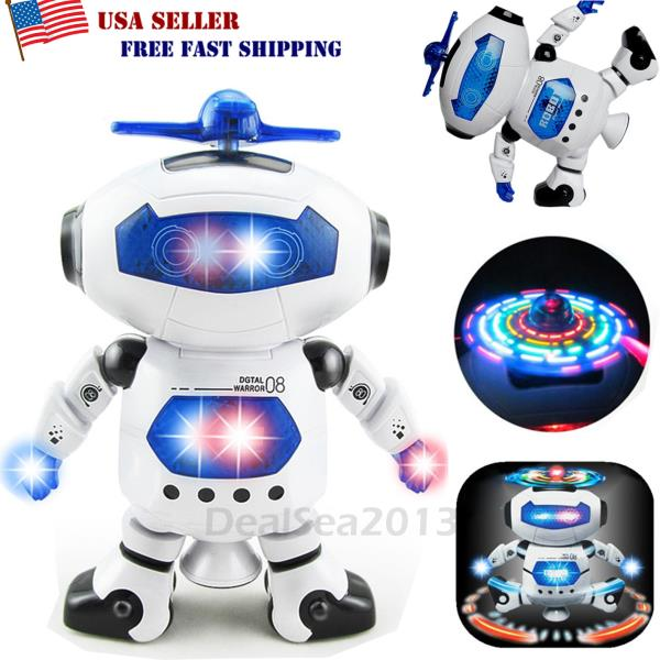 Toys For Boys Robot Kids Toddler Robot 360° Space Dance Toy Birthday Xmas Gift