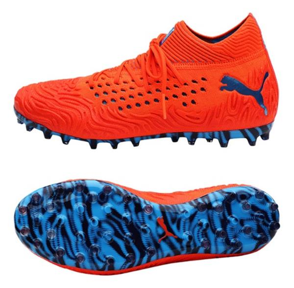 PUMA Men Future 19.1 MG Net-Fit Cleats Red Soccer Shoes Boot Spike ... 8eb3427017