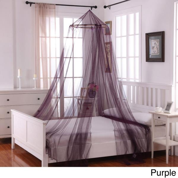 MANY COLORS Round Hoop Mosquito Bed Canopy Netting Sheer Fabric Panel ANY SIZE & MANY COLORS Round Hoop Mosquito Bed Canopy Netting Sheer Fabric ...