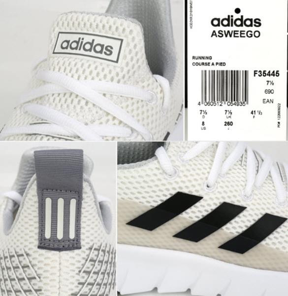 f27dc168 Adidas Men Asweego Shoes Running White Sneakers Boot Casual GYM Shoe ...