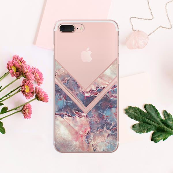 2ce6025d25c2a Details about Pink Geometric iPhone XS Max Cover Marbled iPhone X 7 8 Plus  Silicone Clear Case