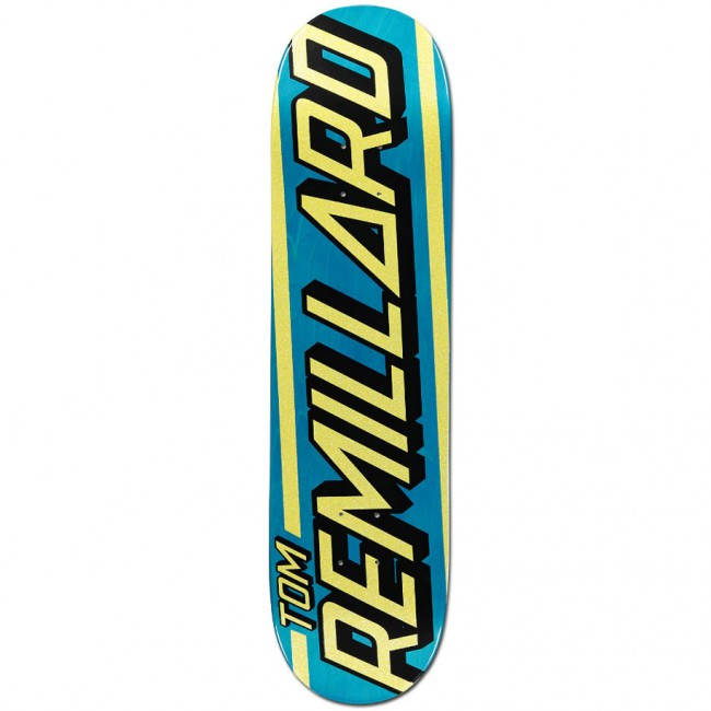 SANTA CRUZ Skateboard Deck Remillard Strip 8.25 FREE GRIP & POST New