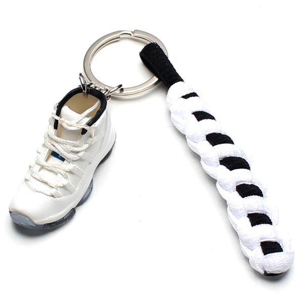 312a2d3e6192 3D Mini Sneaker Shoes Keychain Retro Legend Blue With Strings for ...