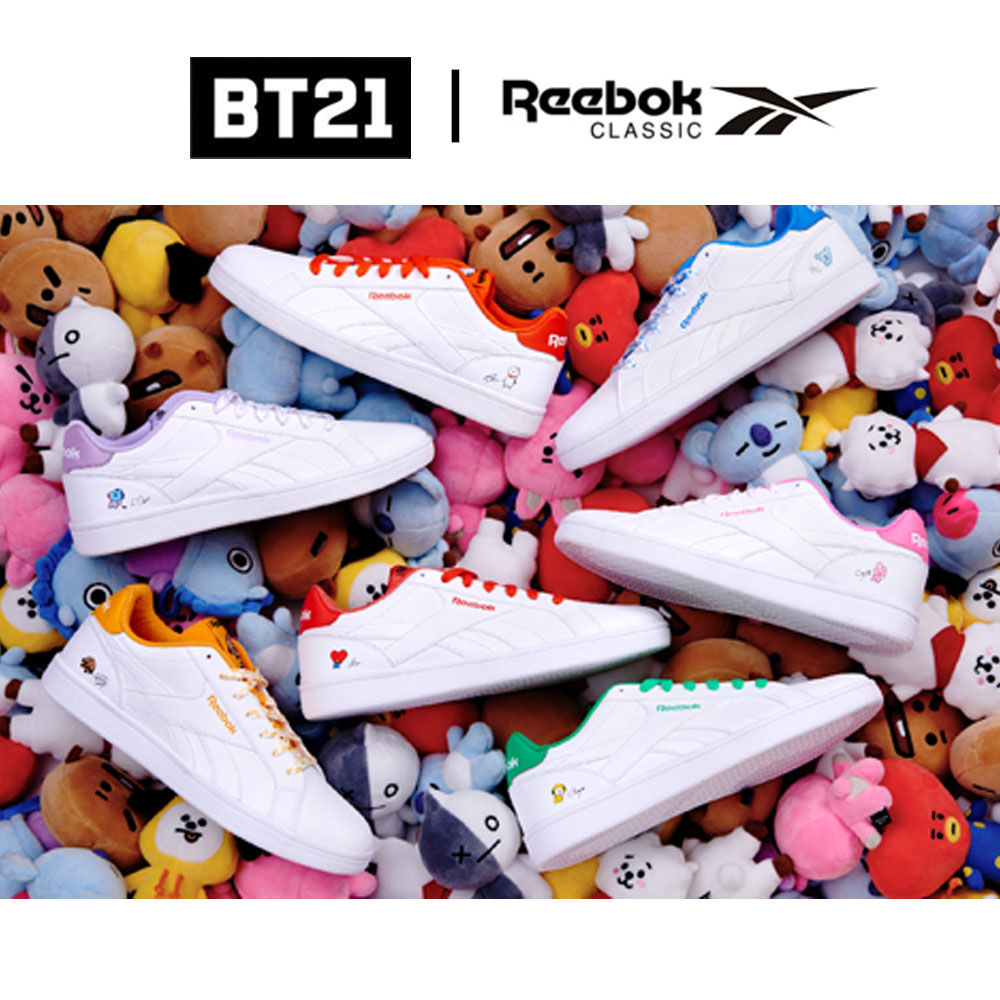 Details about BTS BT21 OfficiaI Authentic Goods ROYAL COMPLETE2LCS Shoes by Reebok Classic