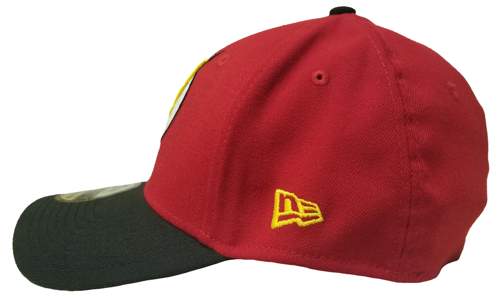 The Flash Red Gold Symbol 39Thirty New Era Fitted Hat - Medium Large ... cdaf94aa473b