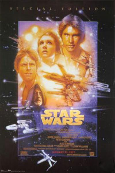 Star Wars Episode Iv A New Hope 24x36 Movie Poster Special Edition Ep 4 Wall Art Ebay