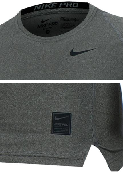 00288114 Nike Men AS Pro Cool Compression L/S Running Shirts Gray Jersey ...