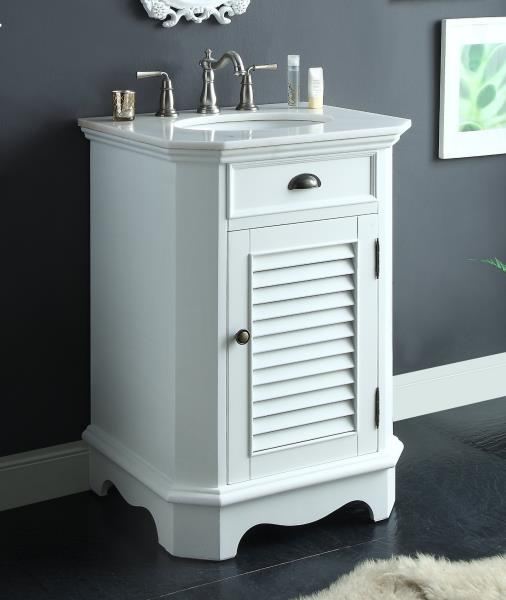 Details About Benton Collection Abbeville White Slim Small Bathroom Sink Vanity Cf47523w 24