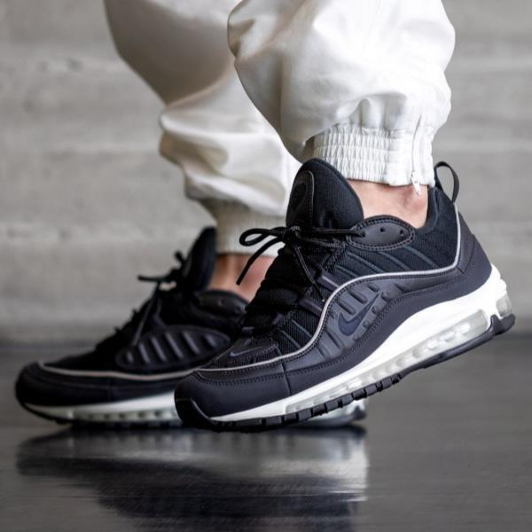 reputable site 18df6 1fb04 Details about Nike Air Max 98 Black Size 8 9 10 11 12 Mens Shoes 640744-009  Jordan Force