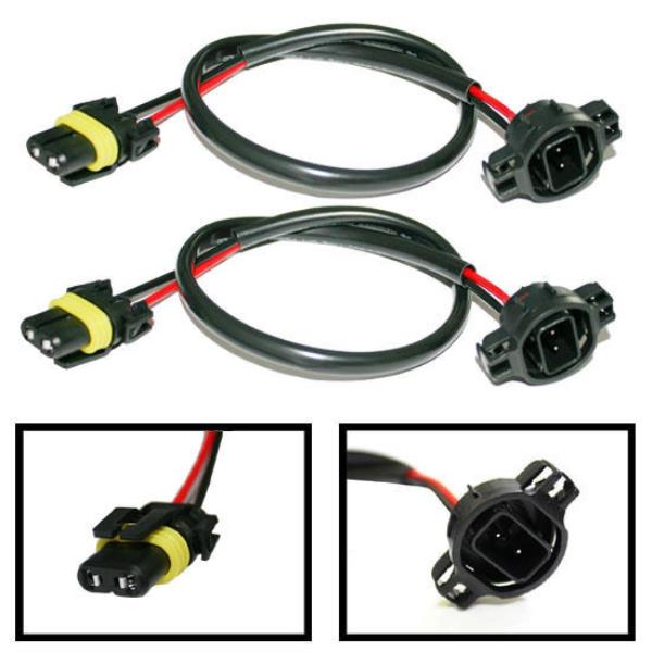 Details about 5202 H16 Wire Harness for HID Ballast to Stock Socket on