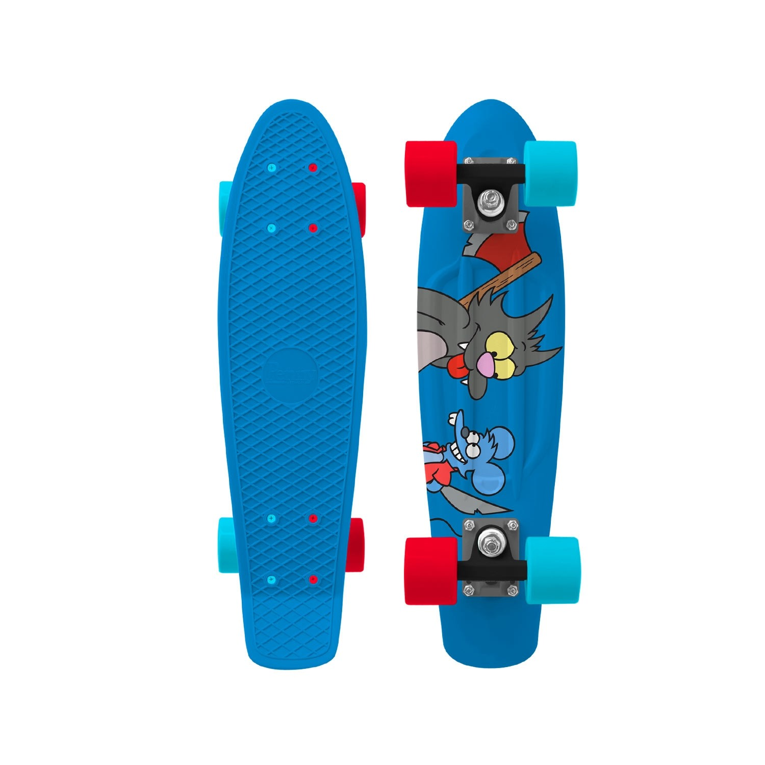 Penny x Simpsons Skateboard Complete Itchy & Scratchy 22 inch RRP $160 FREE POST NEW