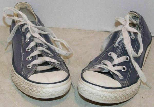 Boys Converse Faded Blue Sneakers Size