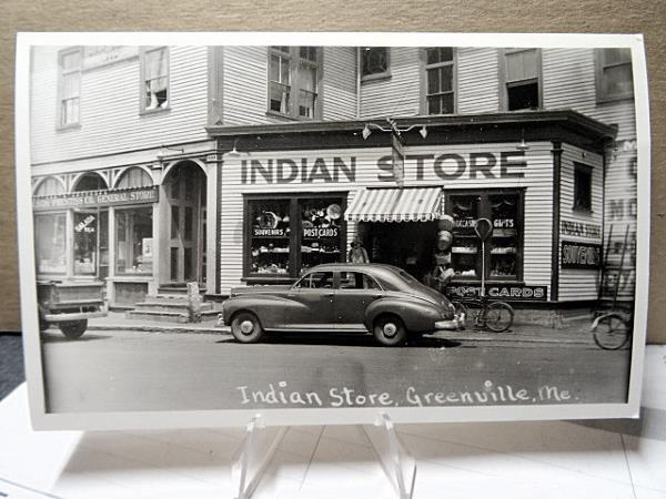 Details About 1925 Real Photo Postcard Indian Store Greenville Maine