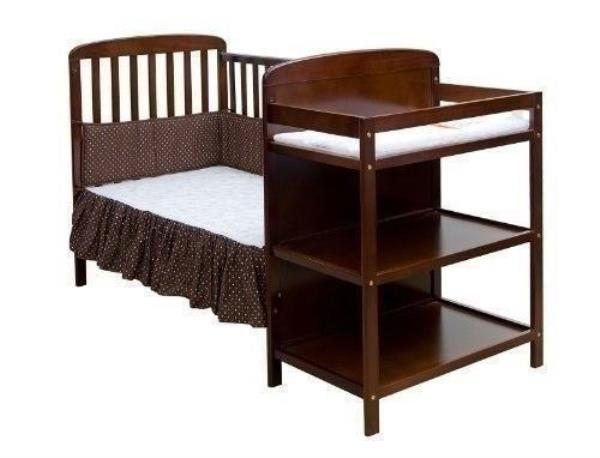 Espresso Full Size Convertible 2 In 1 Crib Bed Baby Toddler Nursery