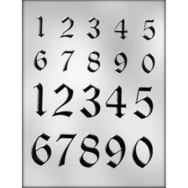 2 Sizes Small Large NUMBERS  Chocolate Mold Age Birthday Date  Baking Candy...