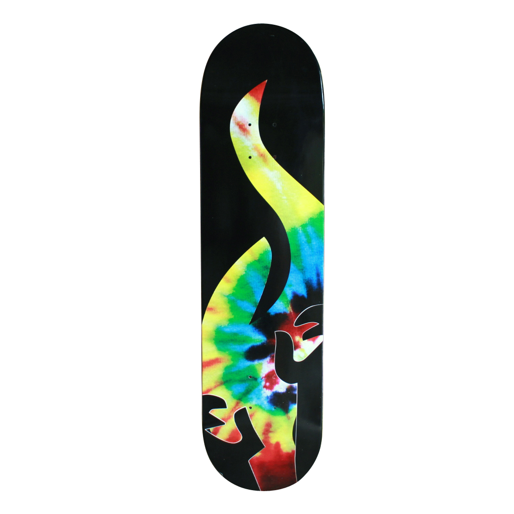 Amnesia Skateboards Deck OG Spin Tye Die free grip and post