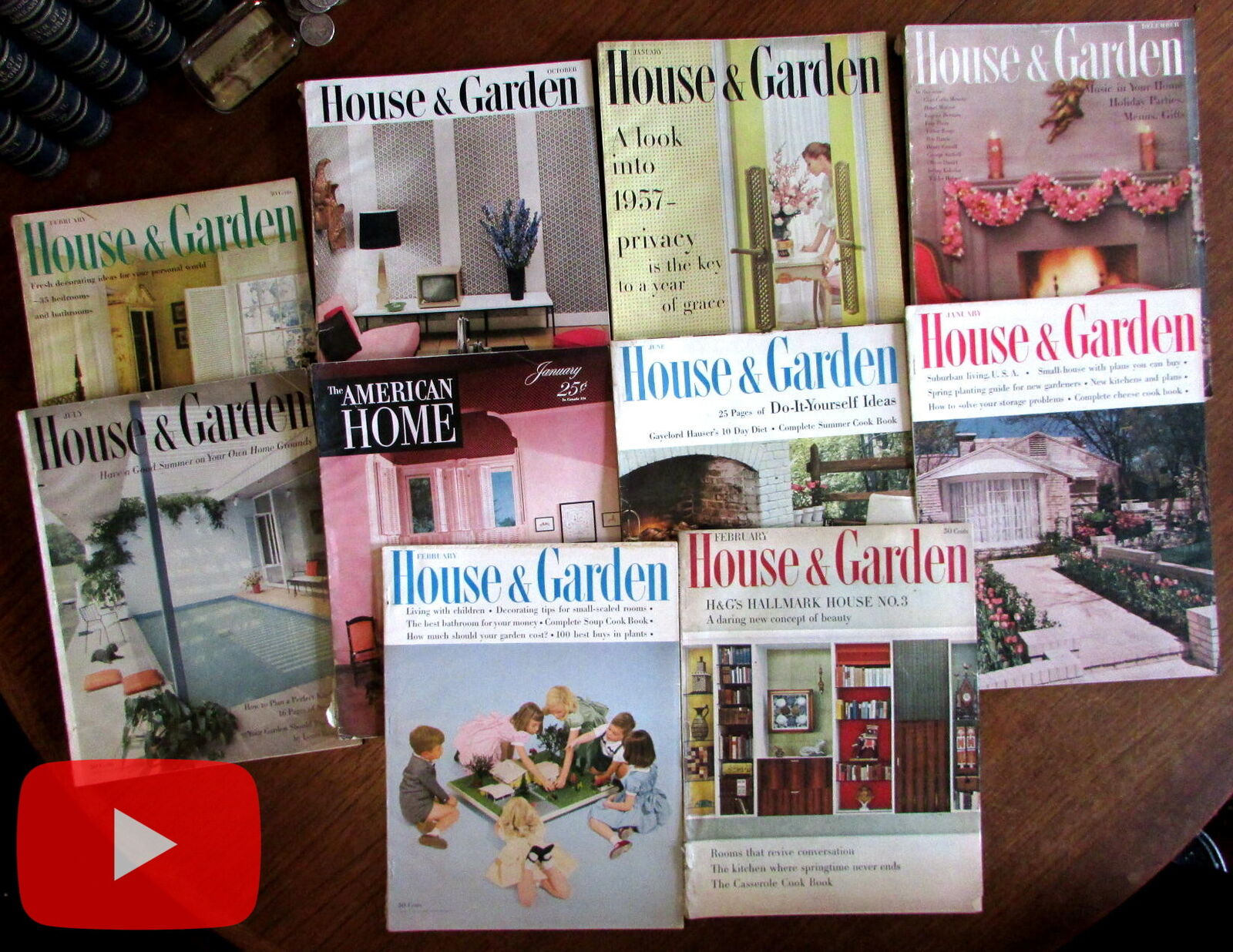 Home Decorating of 1950\'s House & Garden magazine x 10 ...