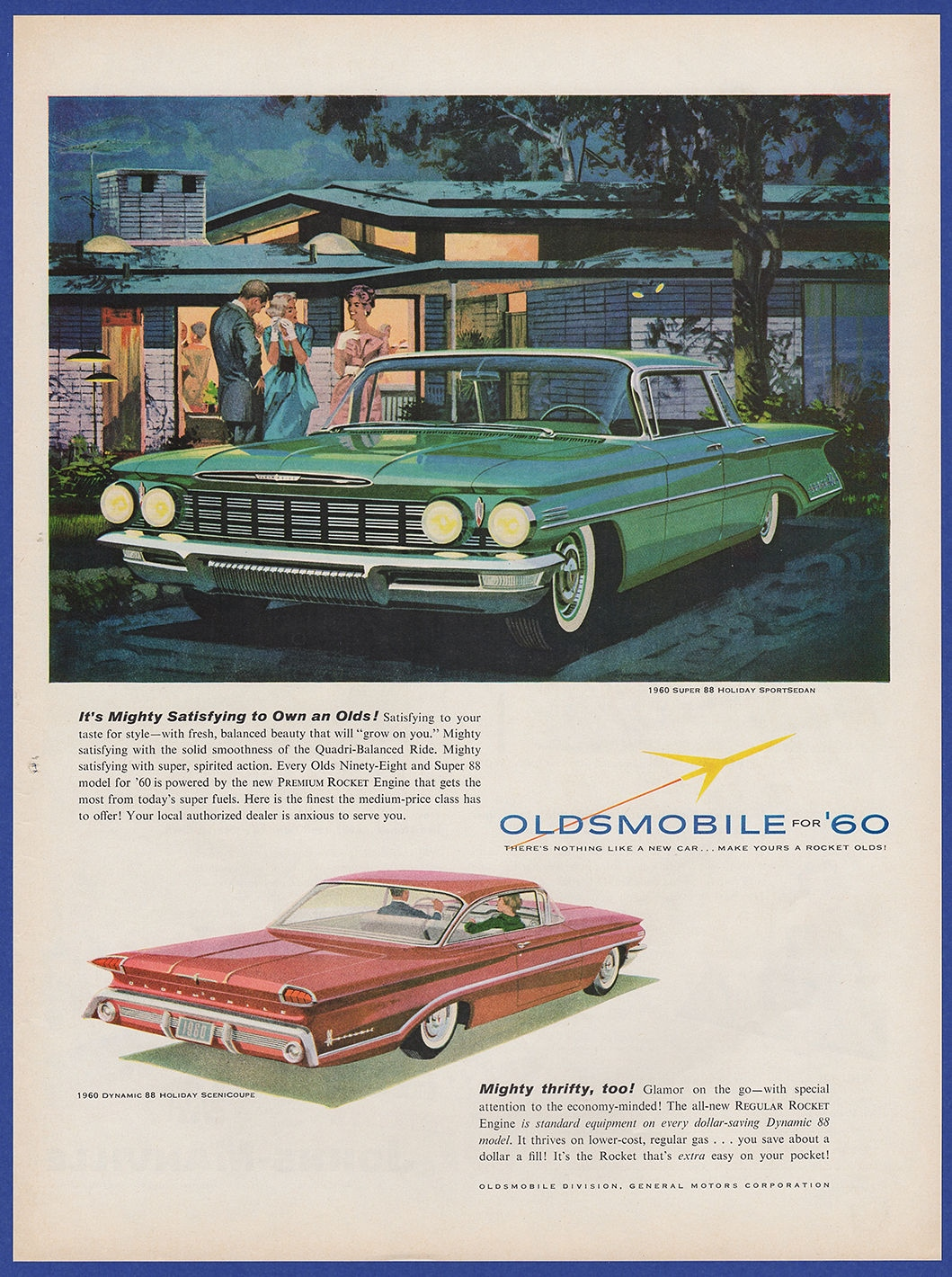 Vintage 1959 Oldsmobile For 1960 Super 88 Holiday Automobile Car 1950s American Cars I Combine Shipping At No Extra Charge Add 3 Or More Print Ads To The Cart And Receive Free Checkout
