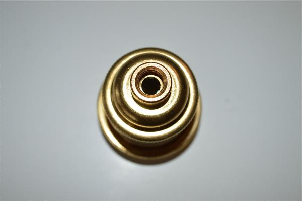 Pair UK made solid brass E27 Eddison screw in bulb holder shade ring 10mm entry Antiques