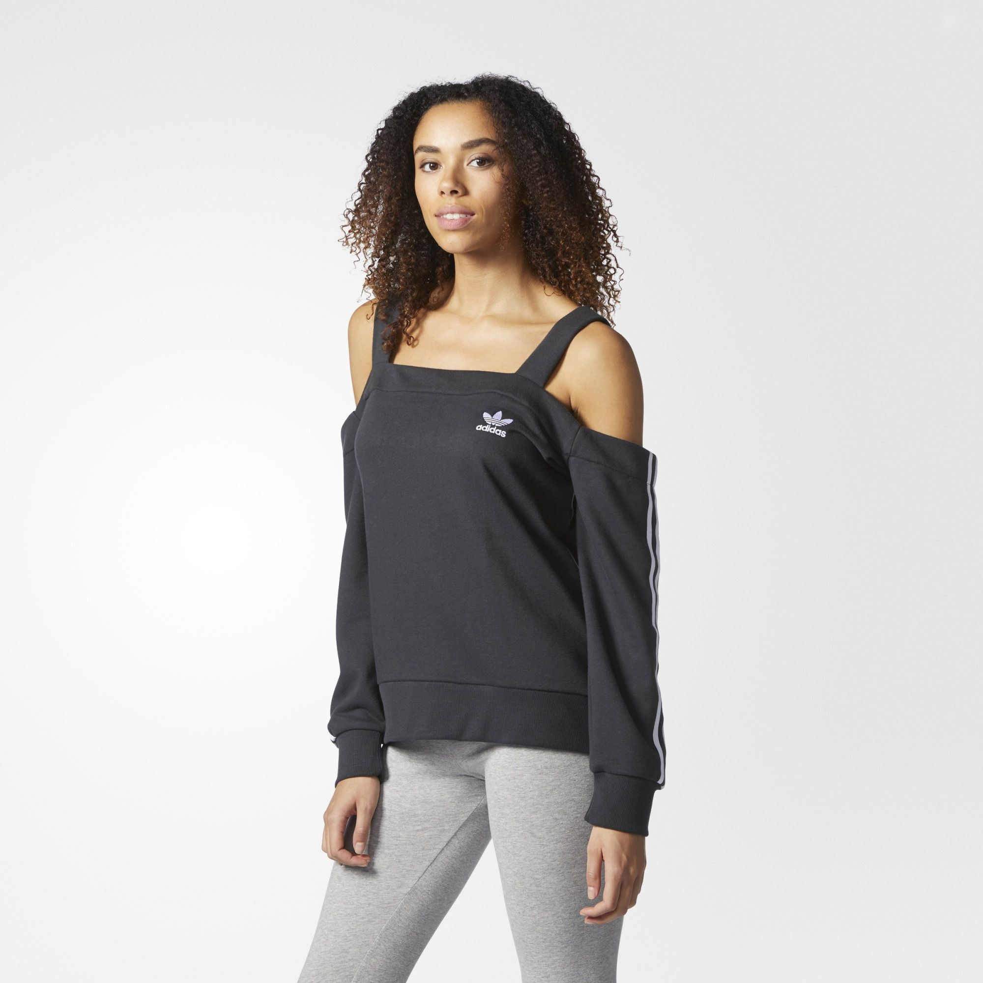 2503a7ed423cd adidas Originals Womens Off-Shoulder Sweatshirt Sweater Jumper Pullover  Top. All sizes listed are UK. See sizing tab below for conversions.