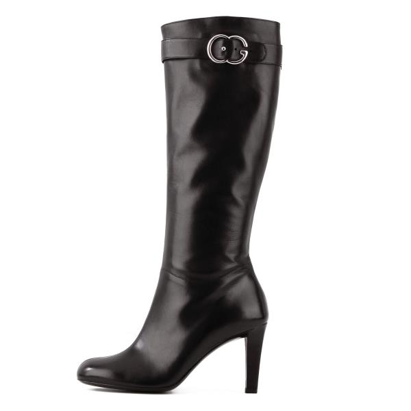 8820d77c0 Details about Gucci GG Buckle Knee-High Boots sz 40 / Best fit for 9 to 9.5  US