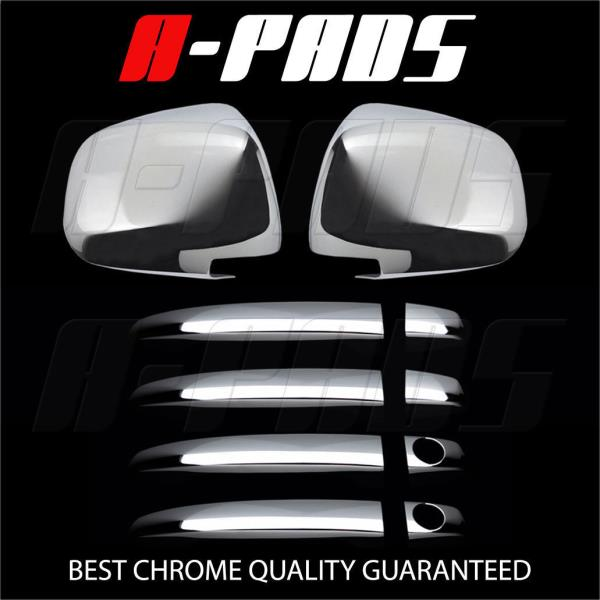 W// PSKH FOR CHEVY AVALANCHE 07-12 CHROME LOWER MIRROR /& DOOR HANDLE COVER
