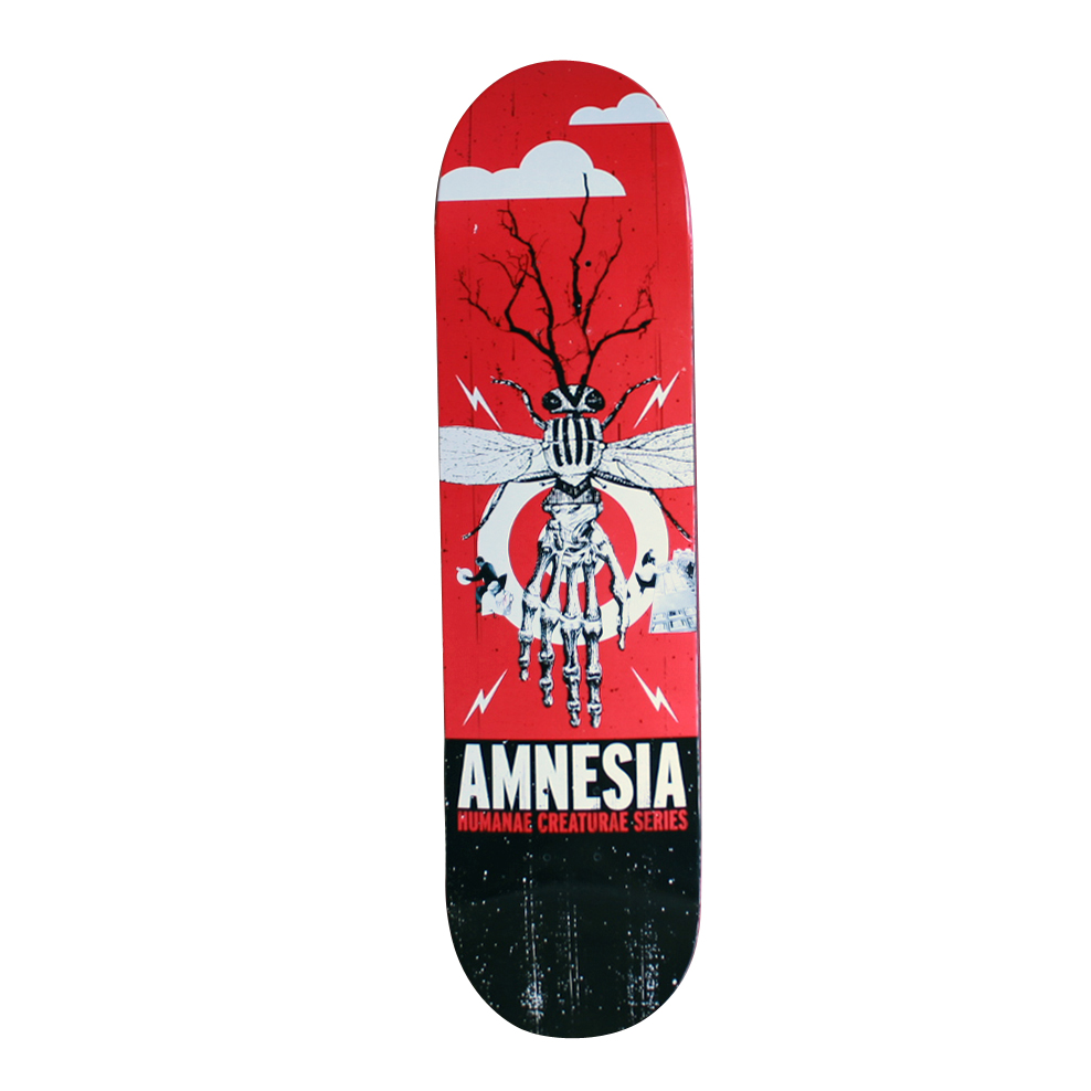 Amnesia Skateboards Deck Humane Creature free grip and free post