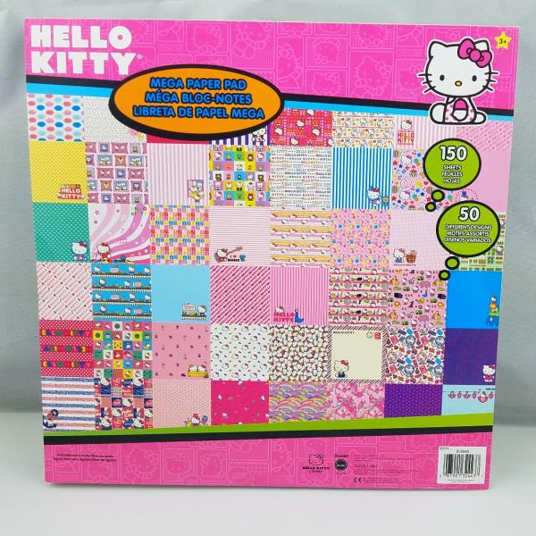 """HELLO KITTY SCRAPBOOK PAPER PAD *150 SHEETS* NEW 12/"""" x 12/"""" USE WITH CRICUT GIRL"""