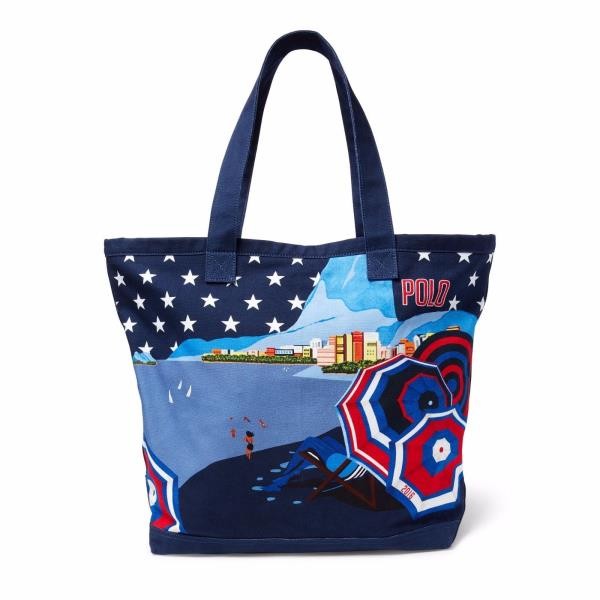 c653e8d47bef Details about New Polo Ralph Lauren Navy Team USA 2016 Olympics Poster Tote  - MSRP  250