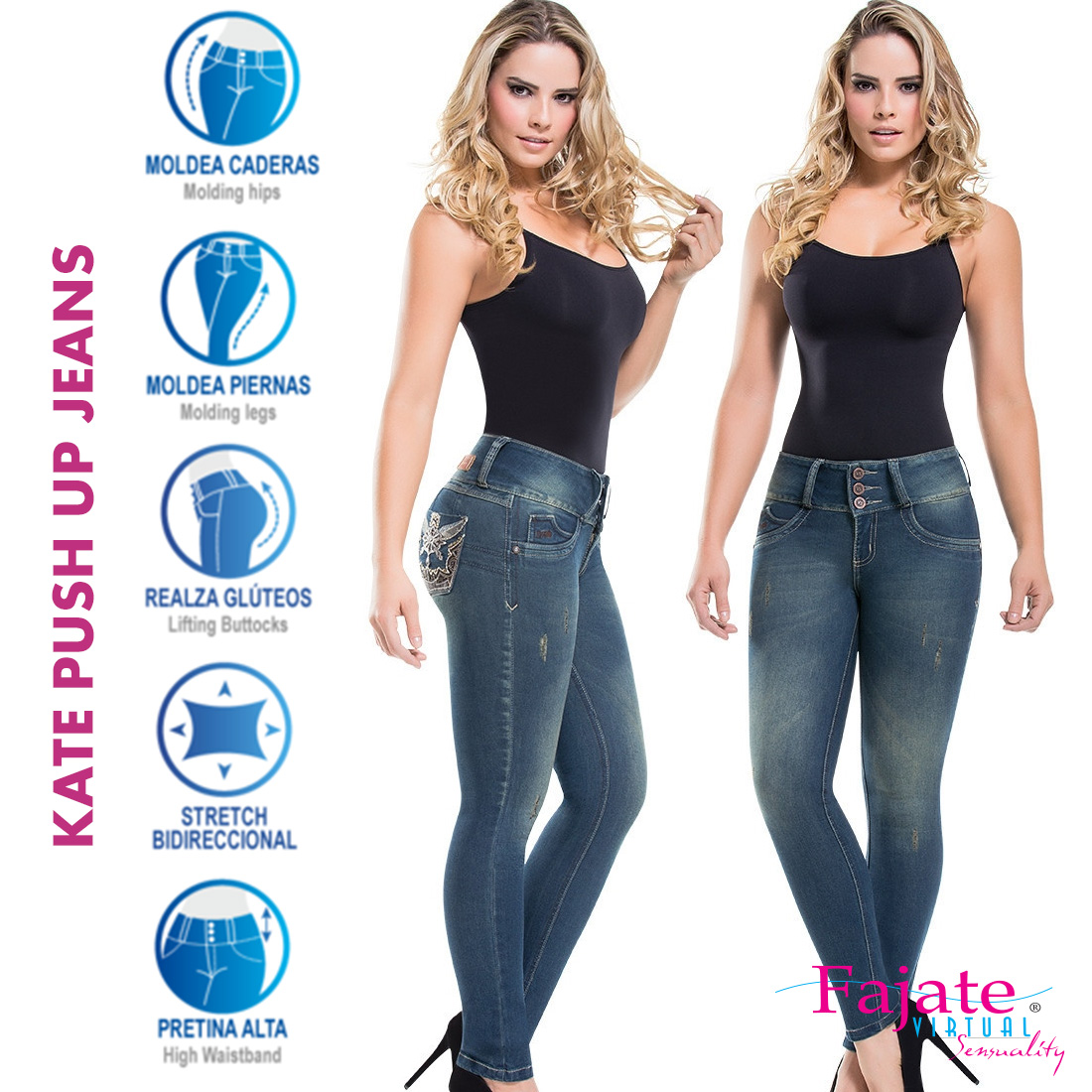 Jeans Levantacola Colombiano Do Plus Size