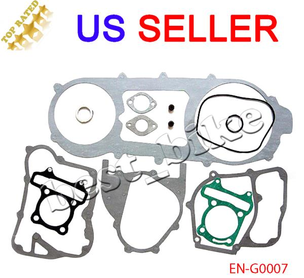 Long Case Complete Gasket Set for GY6 150cc Scooter Moped GoKart ATV Quad