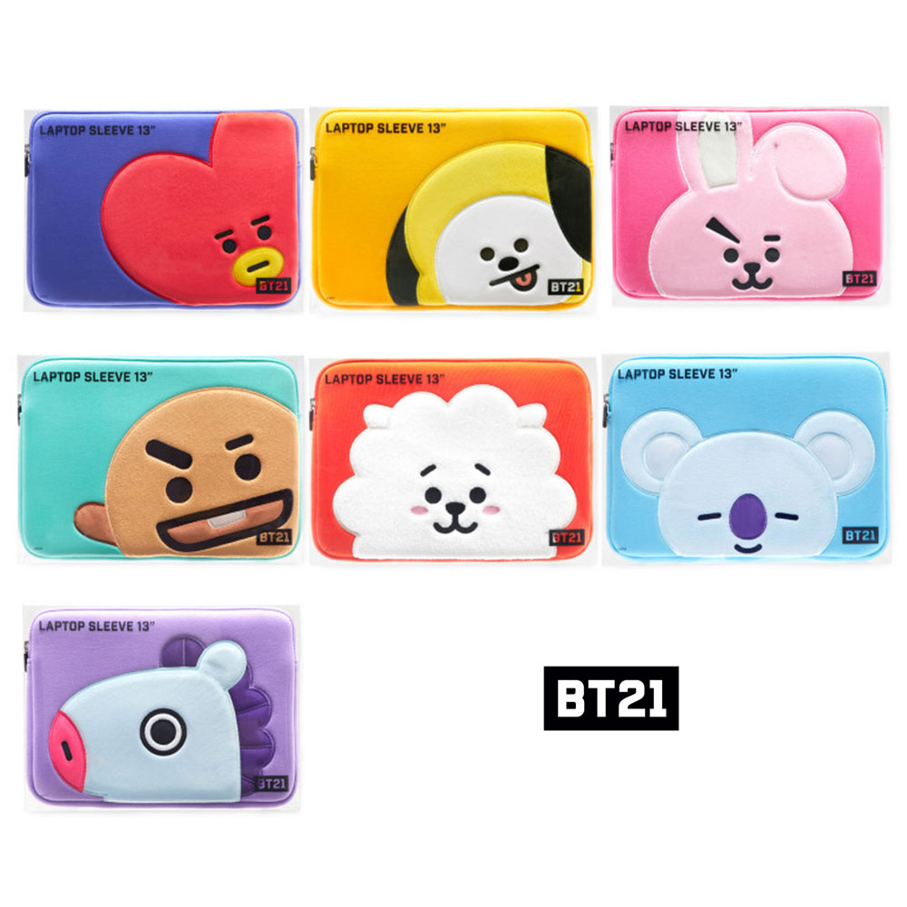 new styles a92bd 12921 Details about BT21 Official Authentic Goods Laptop sleeve 13 inches BTS  KPOP Standard Shipping