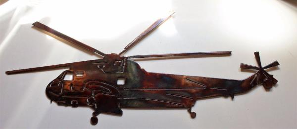 H-3 Helicopter Metal Wall Decor | eBay