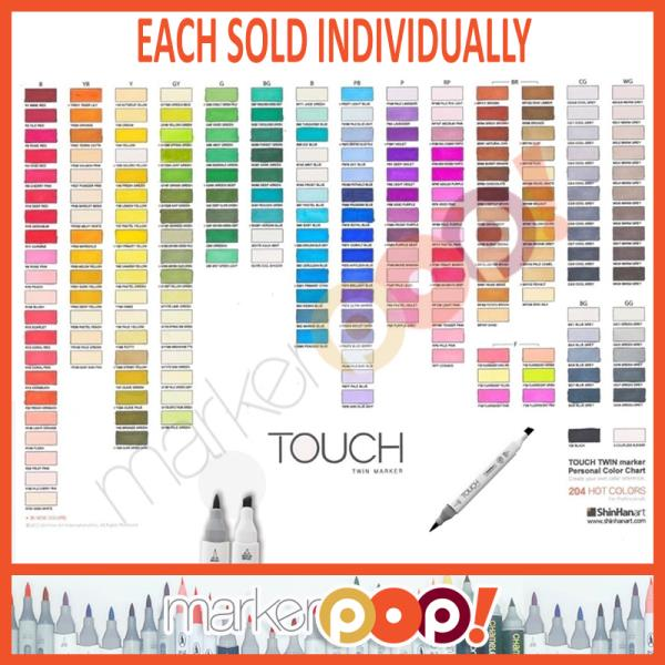 TOUCH Twin Markers ShinHan Sold Individually