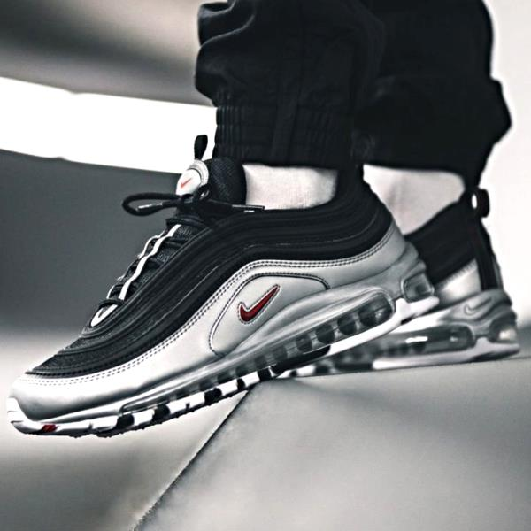 purchase cheap 4c183 aa0f9 Details about Nike Air Max 97 QS Black Silver Size 7 8 9 10 11 12 13 Mens  Shoes New AT5458-001