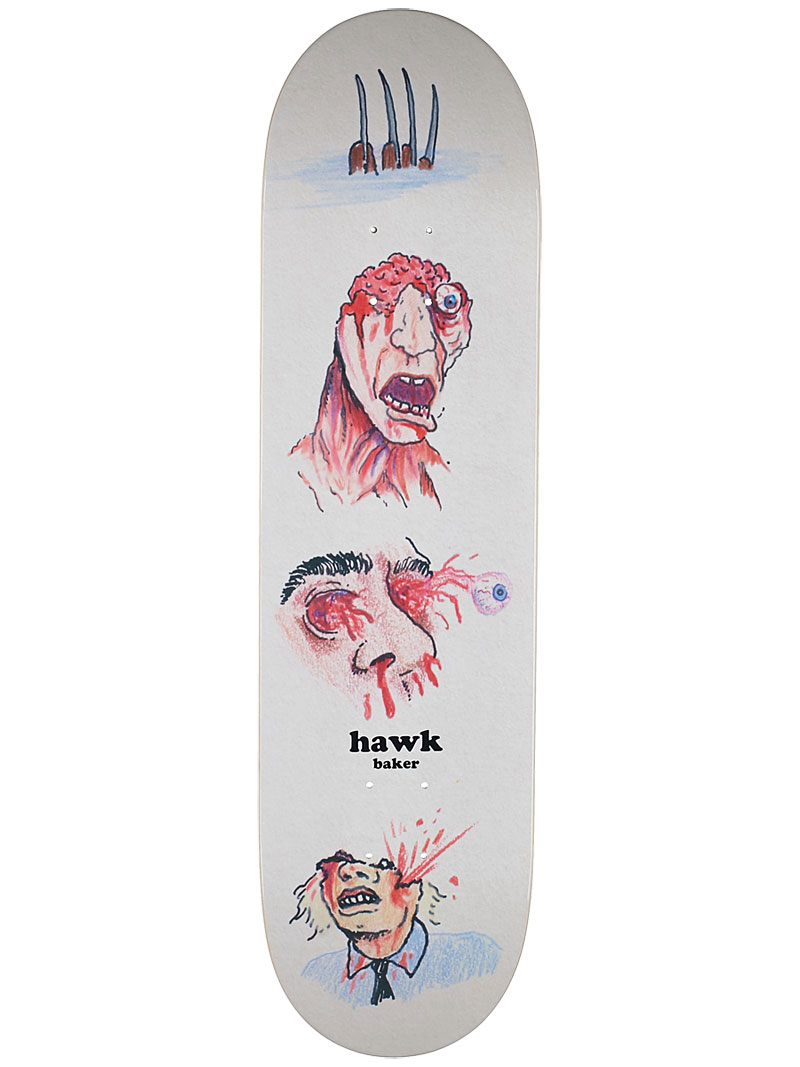 Baker Skateboards Deck Riley Hawk Monsters FREE GRIP and Post new