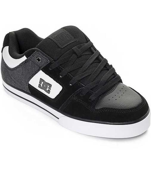 WHITE SUEDE TEXTILE SKATE SHOES 301024